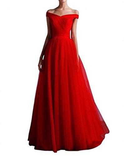 Ausschnitt La Rot V Kleider Festliche Marie Braut Abendkleider Kleider Damen Brautmutterkleider Jugendweihe Elegant rzrv7nW