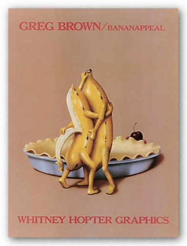 """Bananappeal by Greg Brown 18""""x24"""" Art Print Poster"""