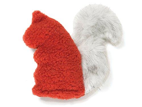 - West Paw Sequoia Squirrel Rust Squeaker Toy