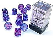 DND Dice Set - Chessex D&D Dice - 16mm Nebula Nocturnal & Blue Luminary Plastic Polyhedral Dice Set-Du