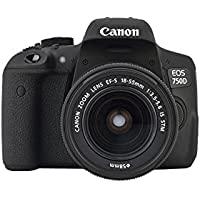 Canon EOS 750D Kit 18-55mm IS STM + case + SD map + Reinigungstuch