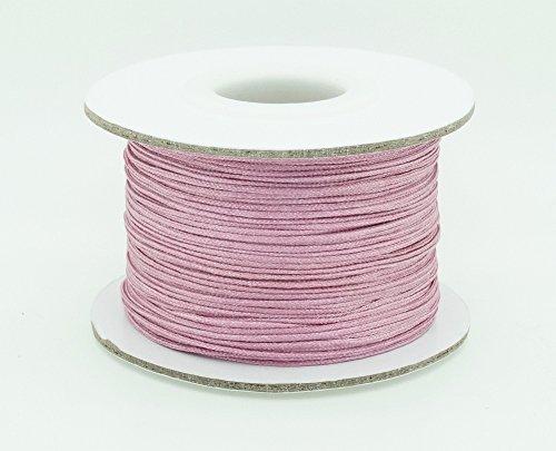 OLD ROSE 0.8mm Chinese Knot Nylon Braided Cord Shamballa Macrame Beading Kumihimo String (50yards Spool)