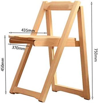 Chaise d'ordinateur Chaise Pliante en Bois Massif Dinant la Chaise Dossier Simple Moderne Chaise Café PENGJIE
