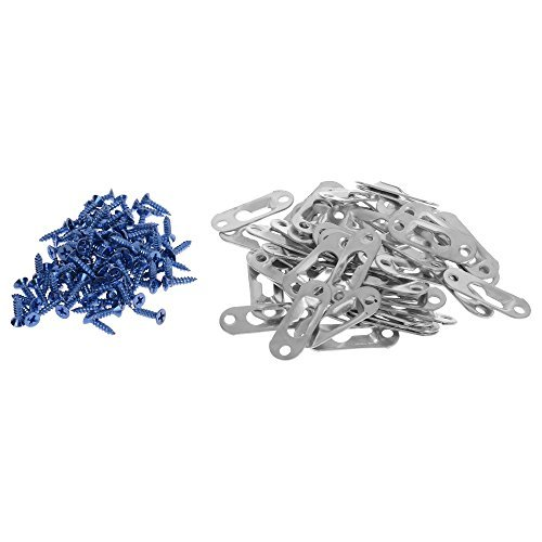 - BCP 50PCS Silver Color 43 x 16mm Single Keyhole Hanging Plates Keyhole Hangers with Screws