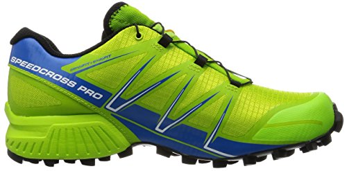 Salomon Men's Speedcross Pro Trail Running Shoes Multicolor (Granny Green/Union Blue/White) ugyG1fsoL1