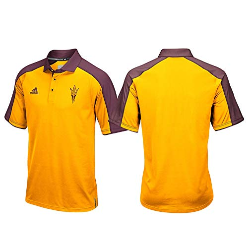 - adidas Arizona State Sun Devils NCAA Men's Sideline Climalite Performance Football Coaches Yellow Polo Shirt (L)