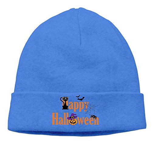 DETO Men's&Women's Halloween Patch Beanie WalkRoyalBlue Caps