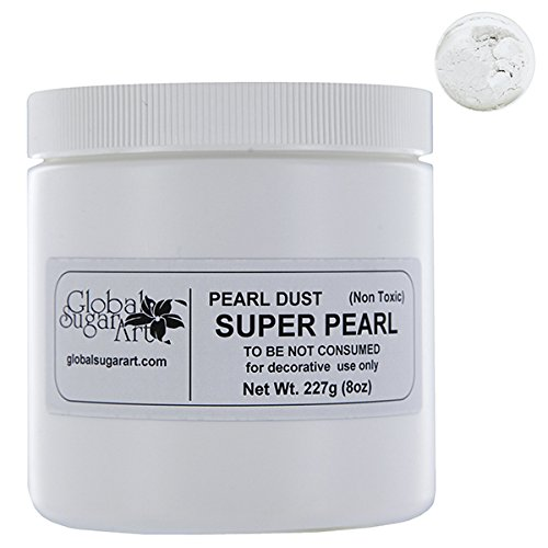 Super Pearl Dust 8 Ounces by GSA by GLOBAL SUGAR ART PRODUCTS