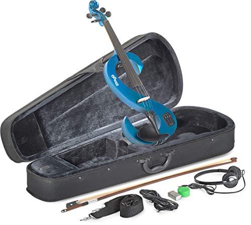 Stagg EVN 4/4 MRD Silent Violin Set with Case - Metallic Red