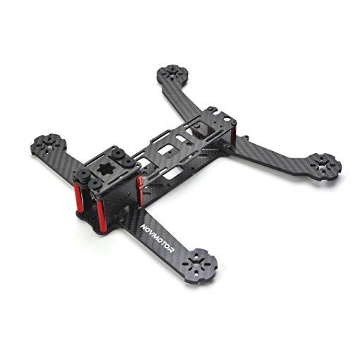 NOVMOTOR 4mm 250 FPV Racing Quadcopter Frame Kits, Sunken Battery Mount Design