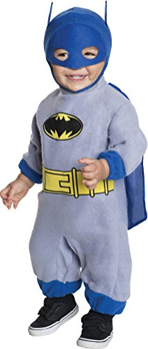 Batman Zero Year Costume (Batman The Brave And The Bold Romper Blue Batman, Blue Print, Newborn)