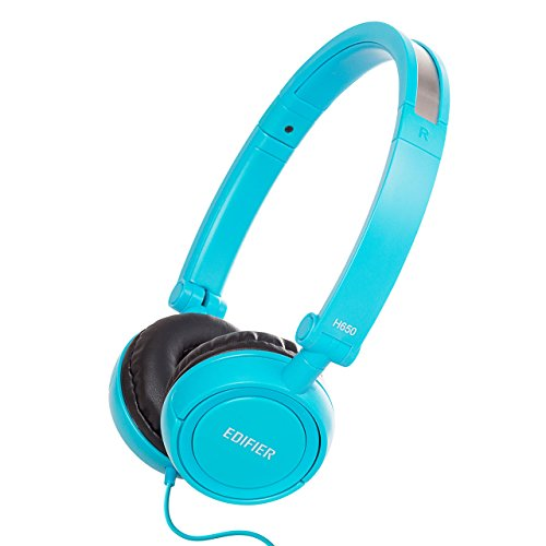 Edifier H650 Hi-Fi On-Ear Headphones – Noise-isolating Foldable and Lightweight Headphone – Fit Adults and Kids – Blue