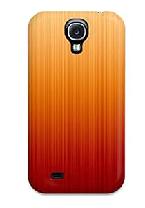 Durable Bright Red Orange Texture Back Case/cover For Galaxy S4