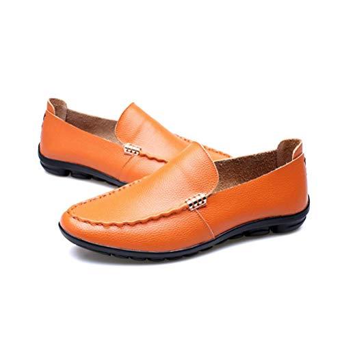 Casual Juvenil LYZGF De Zapatos Primavera Perezosos Moda De Cuero Yellow Hombres Verano para xgq4YnwOUq