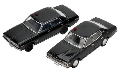 1/64 TLV-N 西部警察 Vol.13 セドリック覆面パトカー 230型/330型(ブラック) 2台セット 「トミカリミテッドヴィンテージNEO」 274414