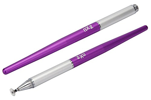 ZxU 3rd Generation Fine Point Stylus for iPad, iPad Air, iPad Mini, iPhone, Samsung Galaxy and Other Touch Screen Devices (Purple)