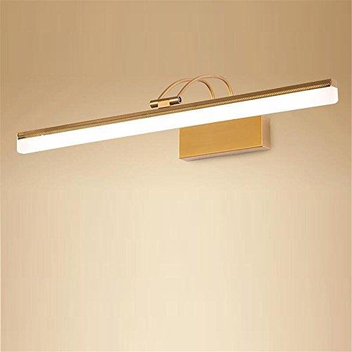 DHXY Lámpara de Espejo Led espejo apliques de pared de la luz estilo americano retro lámpara de pared de maquillaje Dresser...