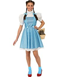Rubies Costume Women's Wizard of Oz Adult Dorothy Dress and Hair Bows
