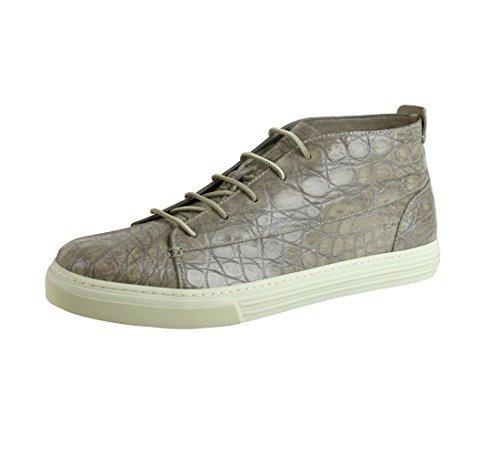 Crocodile High Top - Gucci Men's Tan Crocodile High-top Fashion Sneakers 342045 1523 (11 US/10.5 G)