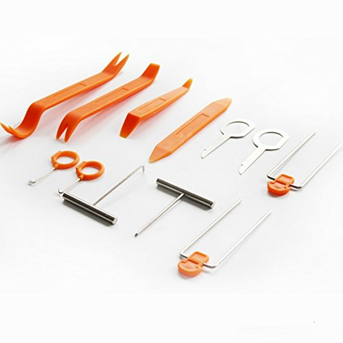 Loietnt Universal Car audio Stereo Panel Clip Pry Remove Tool Kit,12PC Auto Trim Dash Radio Panel Refit Clip Install Tool