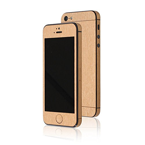 AppSkins Folien-Set iPhone 5/5s/ SE Metal pure gold