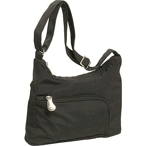 AmeriBag Catskill Shoulder Bag 27303,Black,one - Microfiber Black Purse