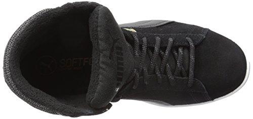 PUMA Womens Vikky Mid Twill Sfoam Fashion Sneaker Puma Black/Puma Black X1Nrbh