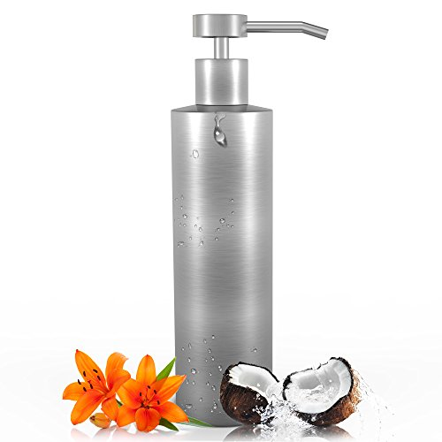 Soap Dispenser - The Kennedy Reese Collection Modern Stainless Steel Liquid Soap Dispenser Perfect for Kitchen & Bathrooms - 16 oz. Capacity Bottle - Contemporary Design & Stylish Packaging