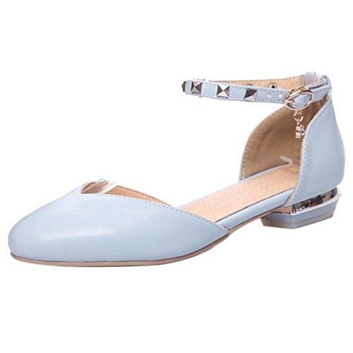 Zapatos 47 Sandalias RAZAMAZA Bajo Moda Blue de Mujer Tacon vC4nC5qx