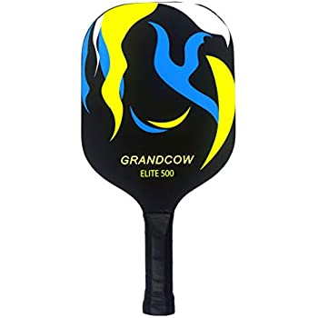 GRANDCOW Graphite Pickleball Paddle, Carbon Fiber Composite with Polypro Honeycomb Core Pickleball Padel Racket