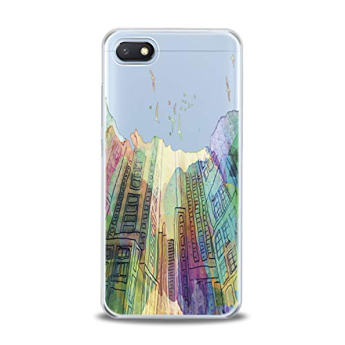 Lex Altern TPU Case for Xiaomi Mi 9 A2 A1 Note 3 8 SE Mix 2s 5X 6X 8X Clear Cute Watercolor Colorful Yellow Cover Print City Pattern Protective Design Women Soft Silicone Transparent Flexible Present]()