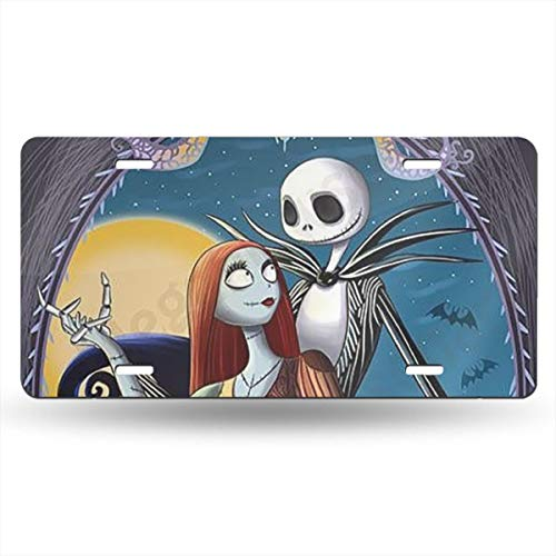 Xmas Jack - Meirdre Aluminum License Plates - Jack Skellington Xmas License Plate Tag Car Accessories 12 X 6 Inches