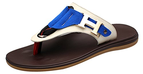 Mens Flip Stylish Trend Athletic Sandals Abby Shoes Flops Blue Beach CM018 Casual ZqAS5wTc