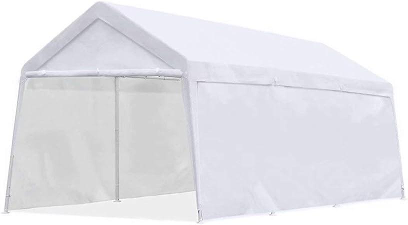 Quictent Tente 3/x 6/Metre Blanc Portable Garage Carport f/ête Tonnelle Without Sidewalls