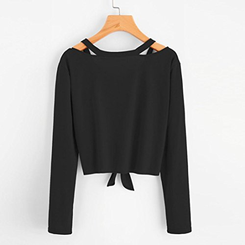 Soldes Sweatshirt Noir Top Pull Longues V Manches Filles Femmes Pullover Col Blouse Angelof Jumper A6fFHqvq