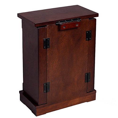 Adumly Armoire Jewelry Cabinet Box Storage Chest Stand Organizer Wood by Adumly (Image #2)