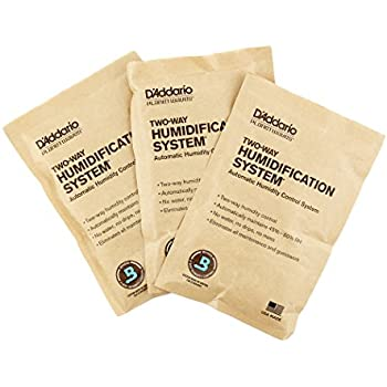 D'Addario Two Way Humidification System Replacement Packets, 3-pack