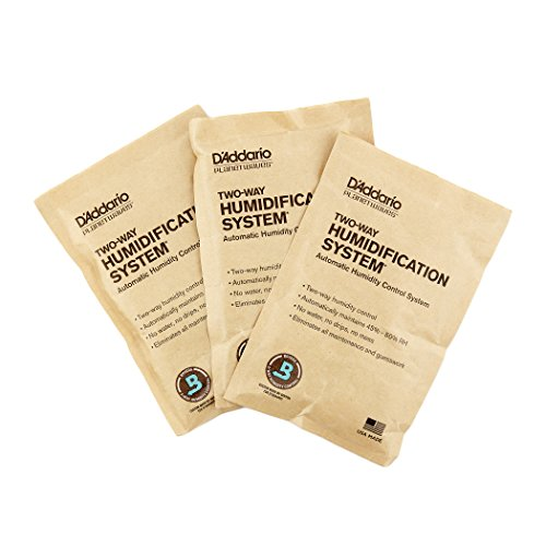 D'Addario Two Way Humidification System Replacement Packets, 3-pack (Control Center 3)