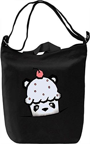 Panda Cake Borsa Giornaliera Canvas Canvas Day Bag  100% Premium Cotton Canvas  DTG Printing 