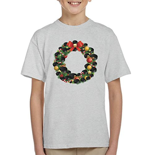 Hockey Wreath (Coto7 Christmas Ice Hockey Puck Wreath Kid's T-Shirt)