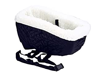 niceeshop tm console dog car seat for small pets with safety belt royal blue. Black Bedroom Furniture Sets. Home Design Ideas
