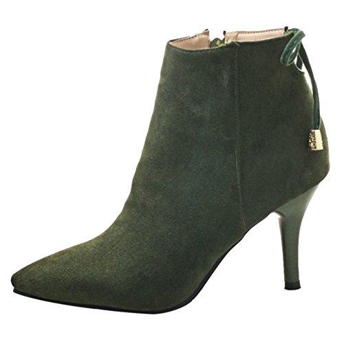 VulusValas Women Ankle Boots Green