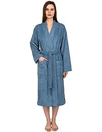 Women's Robe Turkish Cotton Terry Kimono Bathrobe Made in Turkey