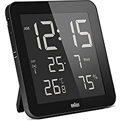 Braun Digital Global Radio Controlled Wall/Desk Clock Black