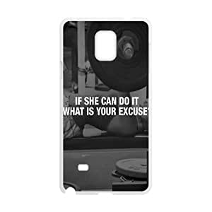 Samsung Galaxy Note 4 Cell Phone Case White If She Can Do It OJ570011