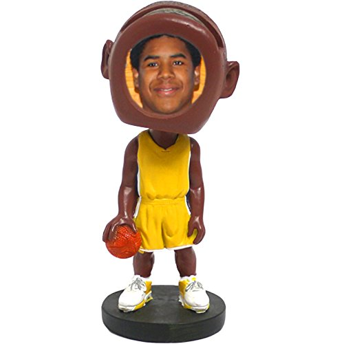 SpotOnDeals Basketball Player Photo Picture Frame Bobblehead Figure Doll ()