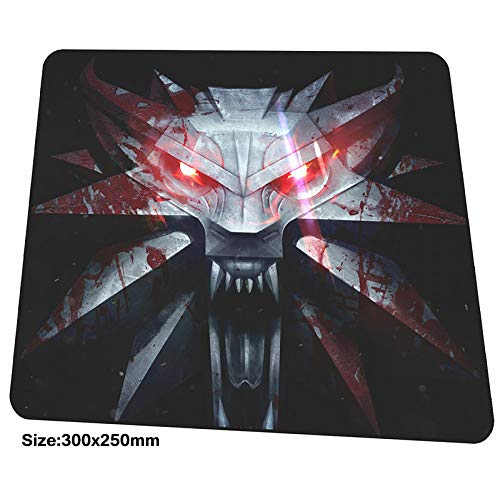 (XIAOXIANNV Witcher Mousepad 300X250X3Mm Gaming Mouse Pad Big Gamer Mat Best Game Computer Desk Padmouse Christmas Gifts Large Play Mats)