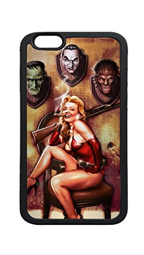 iPhone 7 Plus Case Cover,Halloween Pinup Monster Trophies Rifle DIY Custom Photo Printed TPU Bumper Sturdy Shell Protective Case Back Cover for iPhone 7 Plus ()