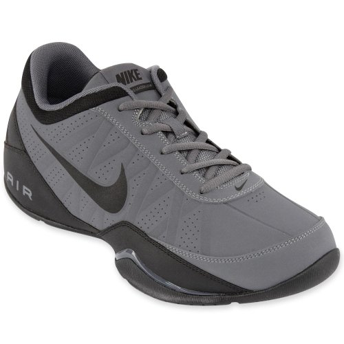 picture of Nike Men's Air Ring Leader Low Dark Grey/Black Basketball Shoe 9 Men US