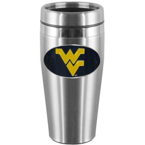 (NCAA West Virginia Mountaineers Steel Travel Mug)